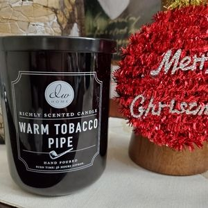 DW Home Tobacco  Warm  Holiday Christmas Candle